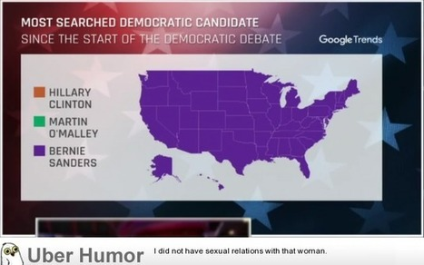 Bernie Sanders most searched candidate during the Democratic Debate in ALL states | uberHumor.com | Everything You Need to Know           Re: Bernie Sanders | Scoop.it