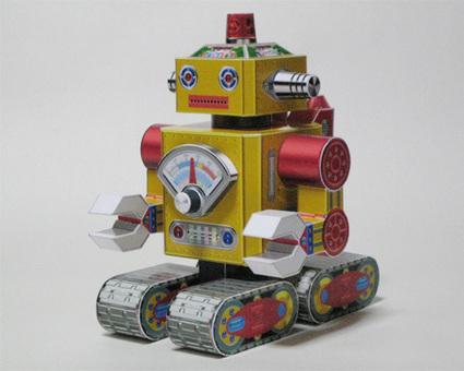 Papermau: Vintage Style Robot Paper Model - by Toki - Robô Estilo Vintage   Vintage, Robots, Photos, Pub, Années 50   Scoop.it