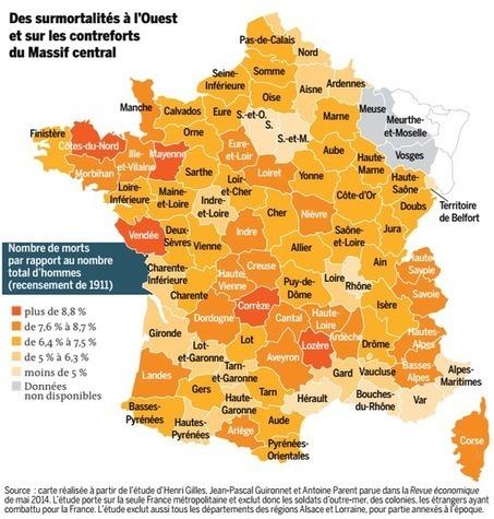 La géographie des « morts pour la France » | Revue de tweets | Scoop.it