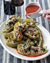 Spinach-and-Sausage-Stuffed Peppers Recipe | À Catanada na Cozinha Magazine | Scoop.it