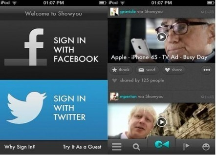 Showyou rolls out redesigned iPhone app, with new social video feed and sharing features | Tracking Transmedia | Scoop.it
