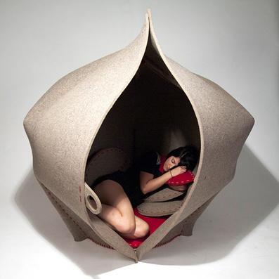 Hush felt pod by Freyja Sewell | SOFT Architectures | Scoop.it