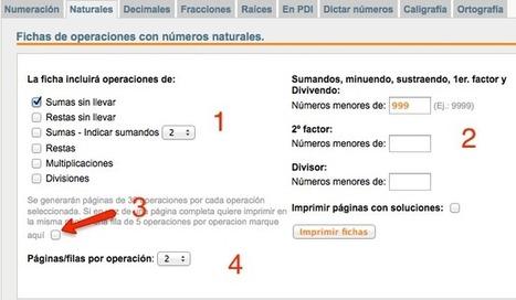 En la nube TIC: Generador de operaciones para Primaria | Recursos educaTICvos | Scoop.it