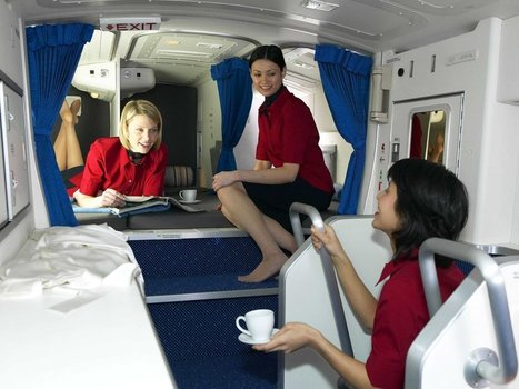 See the secret, tiny bedrooms flight attendants use on long-haul aircraft | TRAVEL KEVELAIR | Scoop.it