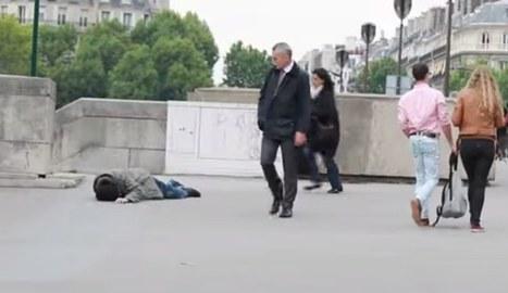 Déguisé en SDF, il demande de l'aide aux passants qui restent indifférents (Vidéo) | French Authentic Texts | Scoop.it
