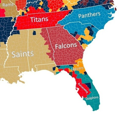 The Geography of NFL Fandom | Human Geography | Scoop.it