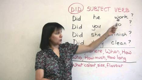 Basic English Grammar – Past Tense Questions | English Expression | Scoop.it