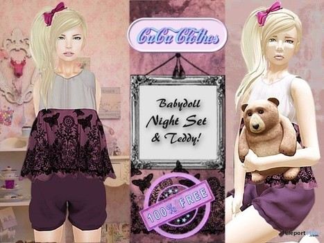BabyDoll Sleeping Dress Gift by CuCu Clothes | Teleport Hub - Second Life Freebies | Second Life Freebies | Scoop.it