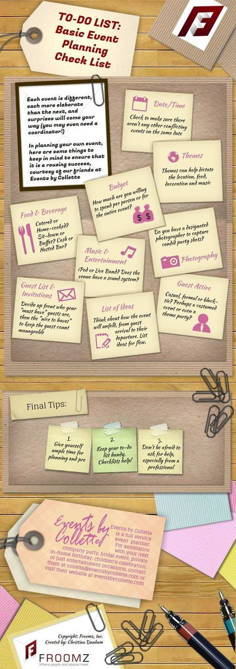 Event QuickTips: Basic Planning Checklist | Event Planning Tips and Ideas | Scoop.it
