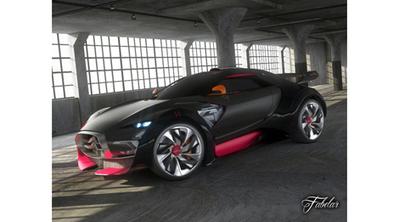Citroen survolt 3D car   3D Library   Scoop.it