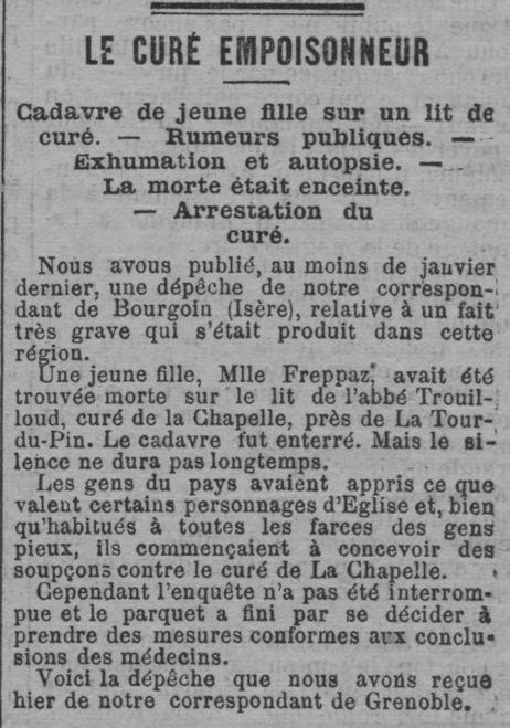 Généalogie en Dauphiné: La maîtresse du curé: le procès | GenealoNet | Scoop.it