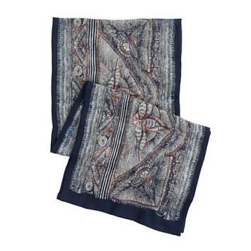 Wool-Silk Scarf In Wood-Block Print   Women Fashion Clothing   Set That   Scoop.it