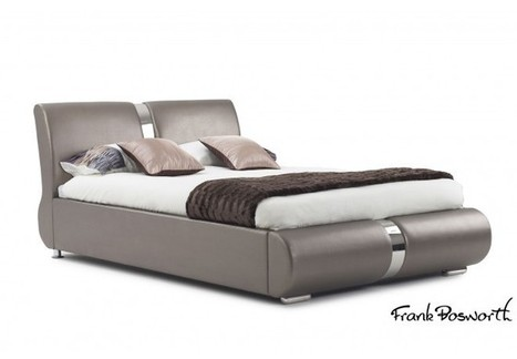 Milan Champagne Faux Leather Bed | Bedsdirectuk.net | Bedroom Furniture | Scoop.it