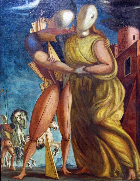 La lumière et l'Alphabet Sur « Hector et Andromaque, 1924 » de Giorgio De Chirico | Traversées aime et publie sur son site | Scoop.it