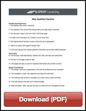 Website Usability Checklist and Usability Guide | Expert Usability | ITC-216 Web Design | Scoop.it