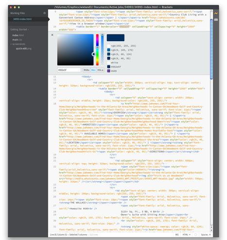 Brackets - The Free, Open Source Code Editor for the Web | DesignNFO | Scoop.it