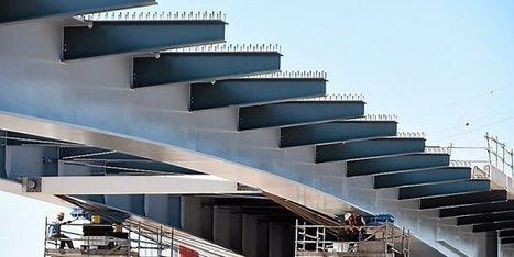 Montpellier : un mastodonte de 1 500 tonnes d'acier s'avance sur le ... - Midi Libre | Autoroute A9 | Scoop.it