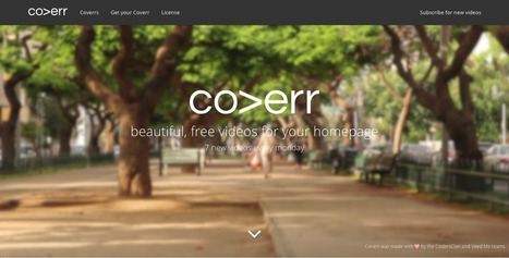 Coverr - Beautiful, free videos for your homepage | Time to Learn | Scoop.it