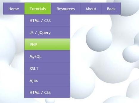 25 Free Dropdown Menus in HTML5 and CSS3   Diseño Web y herramientas   Scoop.it