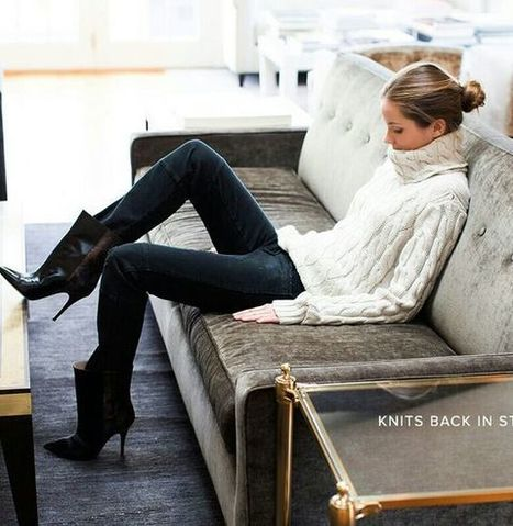 Trend Winter Outfit: Chunky Knit are the Chunkiest! » Celebrity Fashion, Outfit Trends And Beauty News | Fashion Style And Beauty Tips | Scoop.it