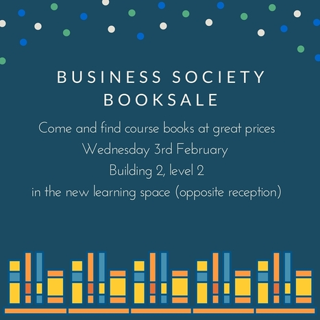 Don't miss the next Business Society book sale. | UoS Business School Undergraduate News | Scoop.it