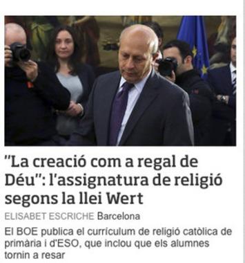 Carta al apóstol Wert | Partido Popular, una visión crítica | Scoop.it