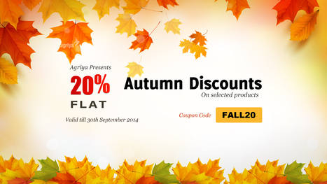 Agriya offers autumn discounts on selected products | Shopify Clone | Scoop.it