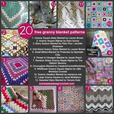 20 Free Granny Blanket Patterns Oombawka Design Crochet | To Crochet or To Knit that is the question | Scoop.it