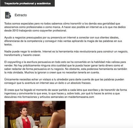 5 recomendaciones para escribir mejor tu presentación en LinkedIn y marcar la diferencia | Maïder Tomasena | Educacion, ecologia y TIC | Scoop.it