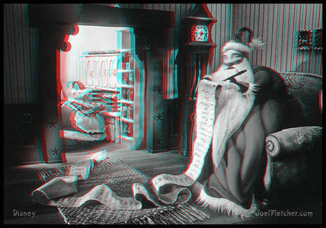 3-D NIGHTMARE BEFORE CHRISTMAS Santa checking his list | VIM | Scoop.it