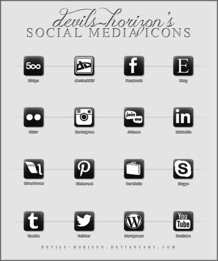 45 Top Free Minimal Social Media Icon Sets Collection - Weblees.com | Magento | Scoop.it