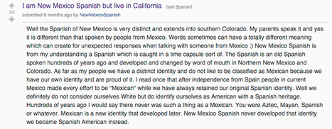 New Mexican Spanish vs. Mexican Spanish | Spanish in the United States | Scoop.it
