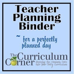The Curriculum Corner's Teaching Management Binder | My Love for Spanish Teaching | Scoop.it
