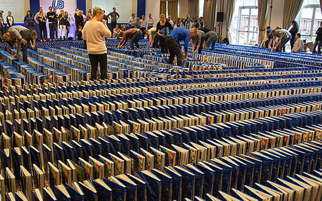 Book dominos world record attempt causes outcry as 'disrespectful to books' | Biblio | Scoop.it