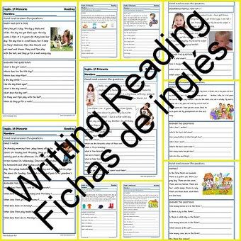 Fichas de inglés Segundo Primaria: Reading-Writting - Educapeques | Aprender idiomas | Scoop.it
