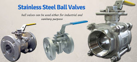 Stainless steel ball valves used for industrial and sanitary purpose   Valve manufacturers and exporters in India   Scoop.it
