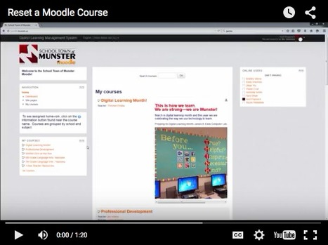 Back to School Reminder: How to reset a Moodle Course | Moodle and Web 2.0 | Scoop.it