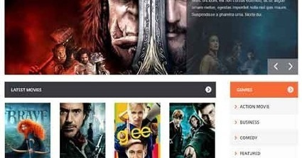 Movie Blogger Template | Blogger themes | Scoop.it