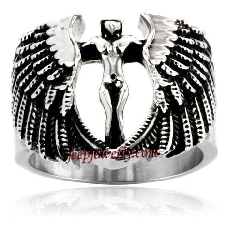 Wholesale Stainless Steel Archangel Ring - $ 4.20 : Steel Jewelry | How to choose an ideal jewelry for your lover | Scoop.it