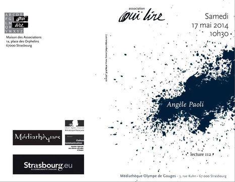 Samedi 17 mai 2014 ::  lecture-rencontre avec Angèle Paoli  à la médiathèque Olympe de Gouges (Strasbourg) [Association Ouï Lire] | Poetry | Scoop.it