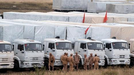 'Eerste trucks Russisch hulpkonvooi rijden Oekraïne in'   School   Scoop.it