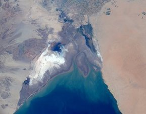 Northern tip of the Sea of Cortez, as seen from the International Space Station | Baja California | Scoop.it