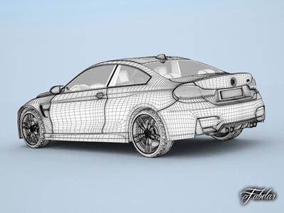 Bmw M4 coupé modele 3D | 3D Library | Scoop.it