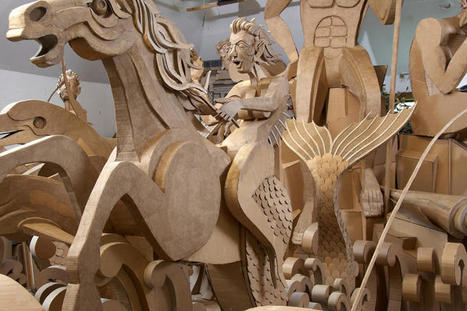 Full-Sized Baroque Roman Fountain Sculpted from Cardboard | Strange days indeed... | Scoop.it