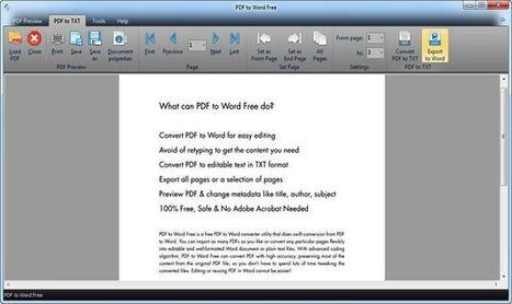 PDF to Word Free, software para convertir PDF a DOC y TXT | Recull diari | Scoop.it