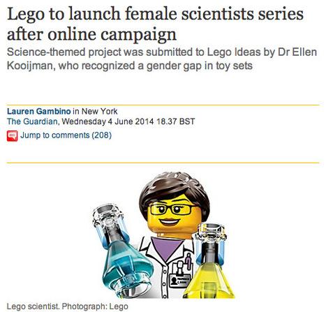 Lego to launch female scientists series after online campaign   Journée de la Femme   Scoop.it