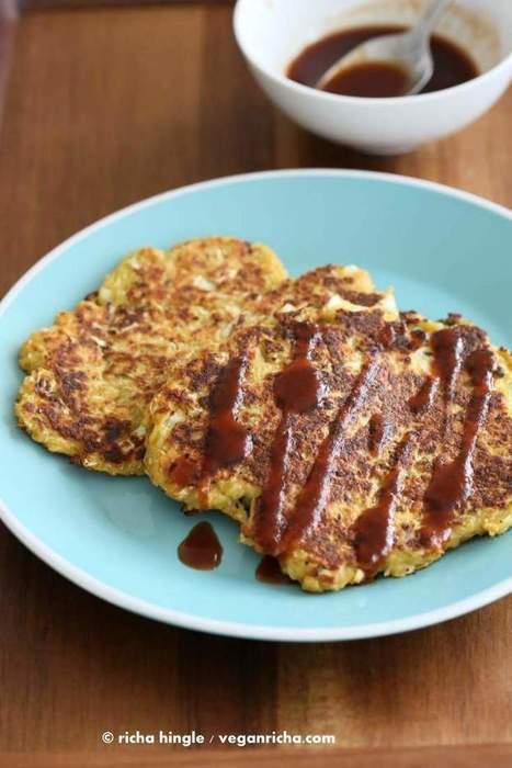 Vegan Okonomiyaki - Cabbage Carrot Pancakes - Vegan Richa | My Vegan recipes | Scoop.it