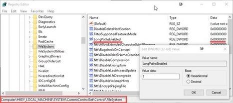 Activez les chemins d'accès aux fichiers au-delà de 260 caractères sur Windows 10 ! (enfin) | 65BITS | Trucs et bitonios hors sujet...ou presque | Scoop.it