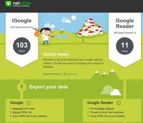 Netvibes crea página especial para migrar desde Google Reader y iGoogle | tecnología industrial | Scoop.it