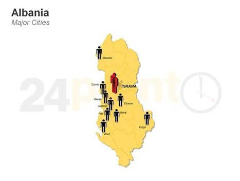 Major Cities of Albania - Editable PPT Map | PowerPoint Presentation Tools and Resources | Scoop.it